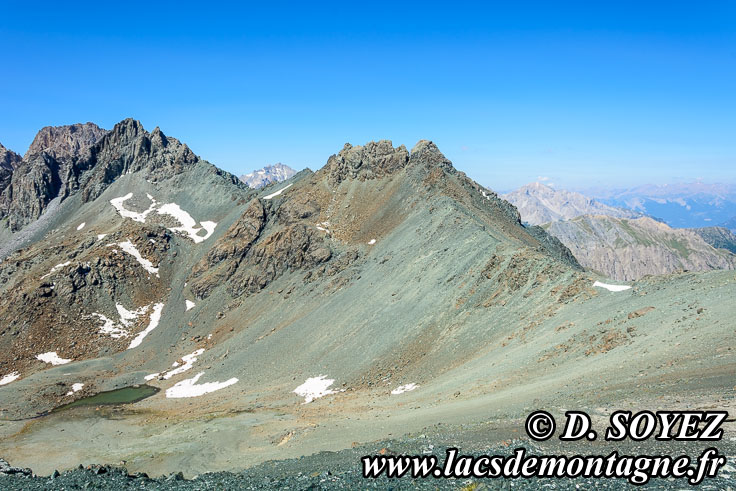 Photo n°201807006 Le col Sud du Cristillan: le fond de l'océan à 3000m d'altitude! Cliché Dominique SOYEZ Copyright Reproduction interdite sans autorisation
