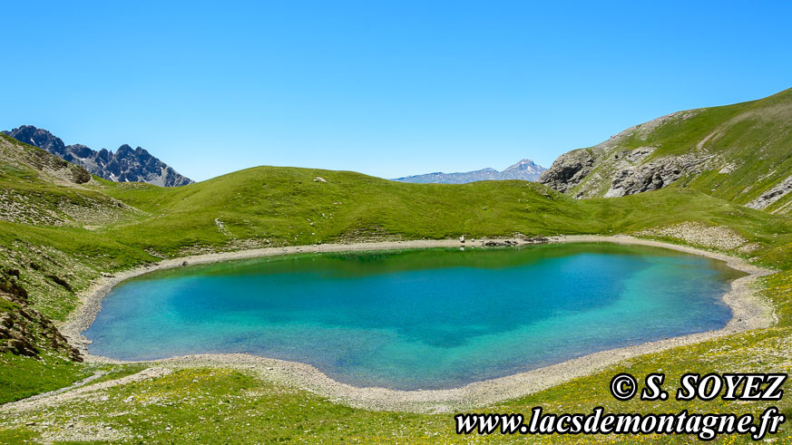 Photo n°201607216 Grand lac du Lauzet (2373m) (Limite Guillestrois - Queyras) Cliché Serge SOYEZ Copyright Reproduction interdite sans autorisation