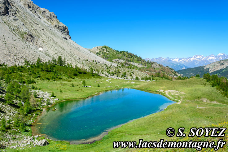 Photo n°201607210 Lac moyen du Lauzet (2210m) (Limite Guillestrois - Queyras) Cliché Serge SOYEZ Copyright Reproduction interdite sans autorisation