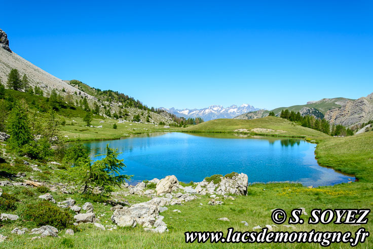 Photo n°201607213 Lac moyen du Lauzet (2210m) (Limite Guillestrois - Queyras) Cliché Serge SOYEZ Copyright Reproduction interdite sans autorisation