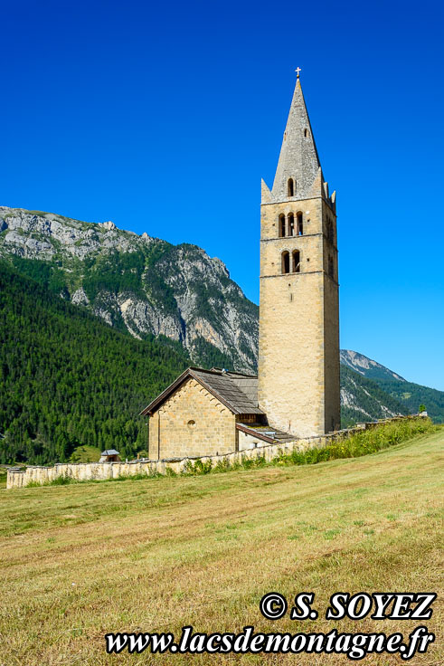Photo n°201807020 Église Sainte-Cécile à Ceillac (Queyras, Hautes-Alpes) Cliché Serge SOYEZ Copyright Reproduction interdite sans autorisation