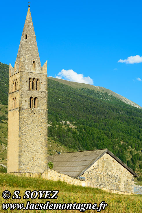 Photo n°201807024 Église Sainte-Cécile à Ceillac (Queyras, Hautes-Alpes) Cliché Serge SOYEZ Copyright Reproduction interdite sans autorisation