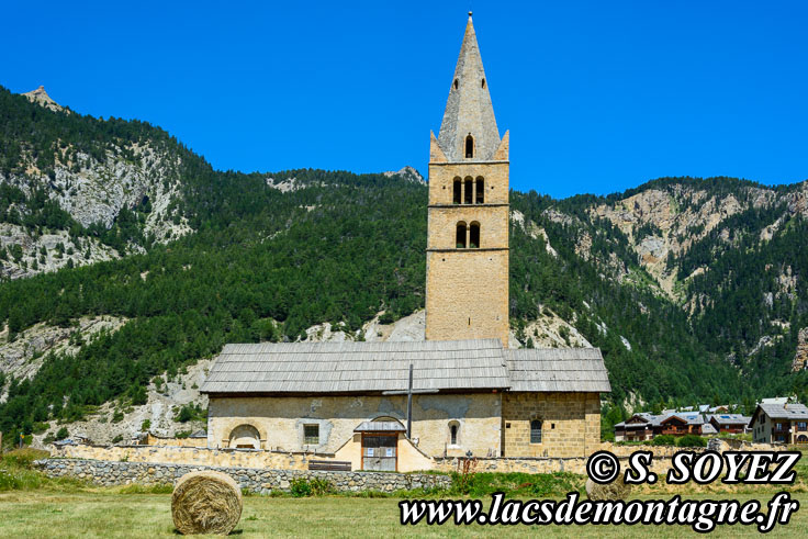 Photo n°201807025 Église Sainte-Cécile à Ceillac (Queyras, Hautes-Alpes) Cliché Serge SOYEZ Copyright Reproduction interdite sans autorisation