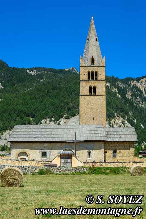 Photo n°201807026 Église Sainte-Cécile à Ceillac (Queyras, Hautes-Alpes) Cliché Serge SOYEZ Copyright Reproduction interdite sans autorisation