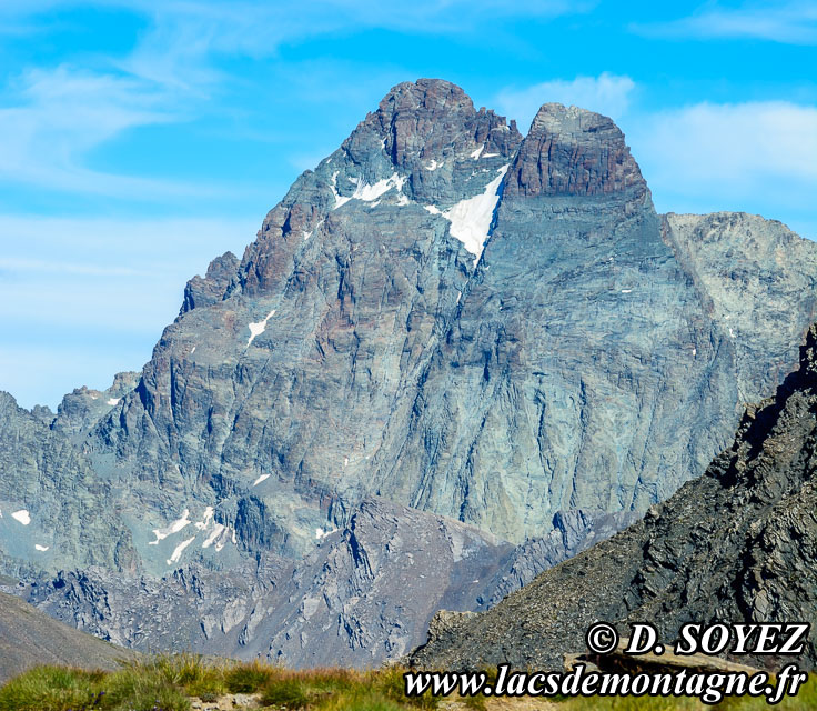 Photo n°201607125 Face OUEST du Mont Viso (3841m) ITALIE Cliché Dominique SOYEZ Copyright Reproduction interdite sans autorisation