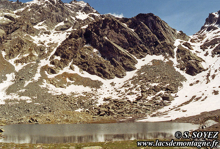 Photo n°19920703 Lac Lestio (2510m) (Queyras, Hautes-Alpes) Cliché Serge SOYEZ Copyright Reproduction interdite sans autorisation