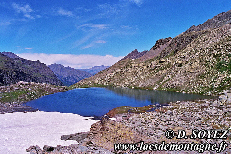 Photo n°20090750NHD Lac Lestio (2510m) (Queyras, Hautes-Alpes) Cliché Dominique SOYEZ Copyright Reproduction interdite sans autorisation