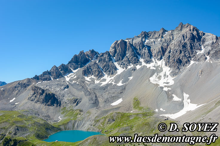 Photo n°201707081 Lac Sainte-Anne (2415m) (Queyras, Hautes-Alpes) Cliché Dominique SOYEZ Copyright Reproduction interdite sans autorisation