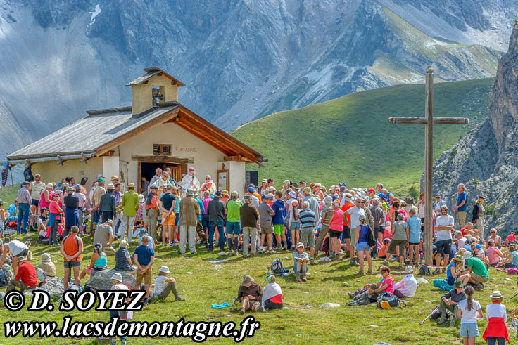 Photo n°201807105 Messe à la Chapelle Sainte-Anne (2415m) (Queyras, Hautes-Alpes) Cliché Dominique SOYEZ Copyright Reproduction interdite sans autorisation