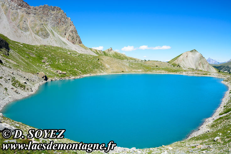 Photo n°201907013 Lac Sainte-Anne (2415m) (Queyras, Hautes-Alpes) Cliché Dominique SOYEZ Copyright Reproduction interdite sans autorisation